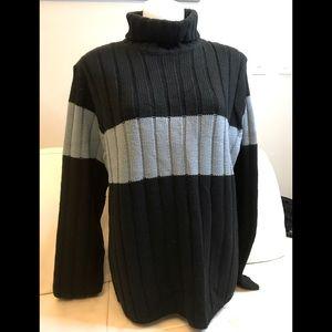 NEW Men's Brody Black/Blue Turtleneck Sweater